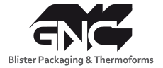 logo GNC Blister Packagings and Thermoforms